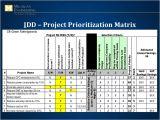 Project Prioritization Criteria Template Design for Six Sigma