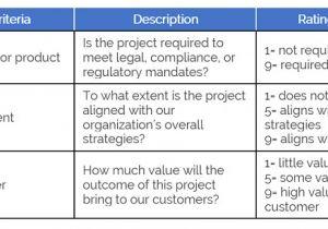 Project Prioritization Criteria Template Improving the Project Prioritization Process Litcom