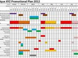 Promo Calendar Template Planning Seasonal Retail Promotional Print Products