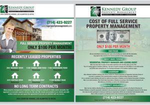 Property Management Flyer Template 8 1 2 X 11 Mailer Flyer for Property Management Firm by
