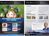 Property Management Flyer Template Upmarket Elegant Property Management Flyer Design for A