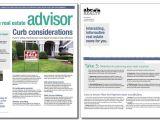 Property Newsletter Template Real Estate Advisor Newsletter Template Volume 4 issue 6