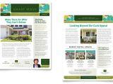 Property Newsletter Template Real Estate Newsletter Template Design