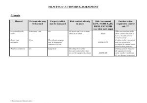 Property Risk assessment Template 80647870 Film Production Risk assessment form