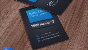 Psd Business Card Template with Bleed Business Card Template Psd Blue by Qualityicons On Deviantart