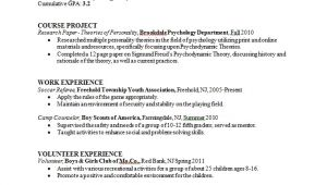 Psychology Student Resume Psychology Major Resume Sample Career Connoisseur
