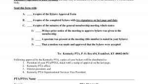 Pta bylaws Template Best Photos Of Pta bylaws Template Pta Membership form