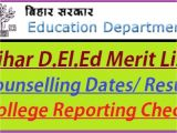 Ptet Admit Card Name Wise Bihar D El Ed Merit List 2020 Counselling Schedule Seat