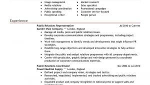 Public Relations Resume Template Best Public Relations Resume Example Livecareer