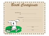 Puppy Certificate Templates 18 Birth Certificate Templates to Download Sample Templates
