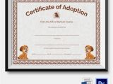 Puppy Certificate Templates Adoption Certificate Template 12 Free Pdf Psd format