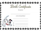 Puppy Certificate Templates Pet Birth Certificate Templates the Best Template Collection