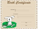 Puppy Certificate Templates Puppy Birth Certificate Template Free Puppy Birth