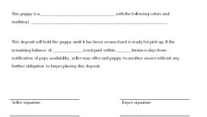 Puppy Receipt Template Puppy Deposit Receipt