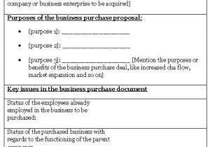 Purchase Proposal Template Word 10 Best Images Of Purchase Proposal Template Business