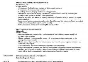 Purchasing Coordinator Resume Sample Procurement Coordinator Resume Samples Velvet Jobs