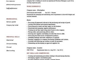 Purchasing Coordinator Resume Sample Procurement Manager Resume Sample Sample Professional