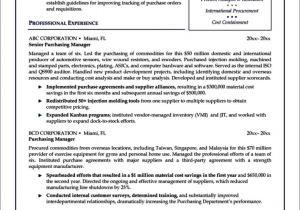 Purchasing Coordinator Resume Sample Purchasing Manager Resume Template Free Samples