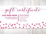 Pure Romance Gift Certificate Template Gift Certificate Bow Card Printable Item by