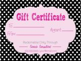 Pure Romance Gift Certificate Template Gift Certificate for Direct Sales Pure Romance
