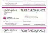 Pure Romance Gift Certificate Template Pure Romance Gift Certificates Pure Romance Pinterest