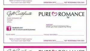 Pure Romance Gift Certificate Template Pure Romance Gift Certificates Pure Romance Pinterest