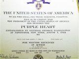 Purple Heart Citation Template Army Award Certificate Newhairstylesformen2014 Com