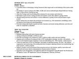 Qa Analyst Resume Sample Qa Analyst Resume