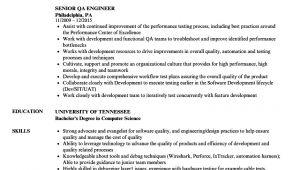 Qa Engineer Resume Senior Qa Engineer Resume Samples Velvet Jobs