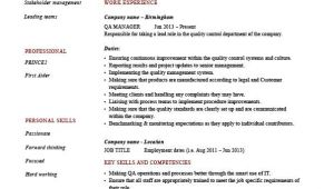 Qa Manager Resume Sample Qa Manager Resume Quality assurance Safety Cv Job