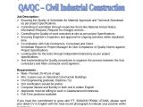 Qa Qc Engineer Resume Qa Qc Civil Industrial Construction