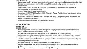 Qa Qc Engineer Resume Qa Qc Engineer Resume Samples Velvet Jobs