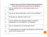 Qualitative Research Interview Protocol Template Conducting Interviews Ppt Video Online Download