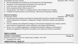 Quality Analyst Resume Sample Resume format Qa Analyst Resume Samples