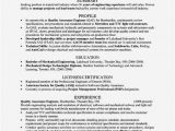 Quality assurance Engineer Resume Pdf Quality Engineer Resume Sample Pdf Resume Template
