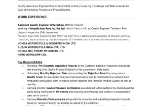 Quality Control Engineer Resume Pdf Nishant Saxena Quality Engineer Resume