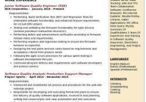 Quality Control Engineer Resume Pdf software Quality Engineer Resume Samples Qwikresume