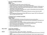 Quality Control Engineer Resume Quality Control Engineer Resume Samples Velvet Jobs