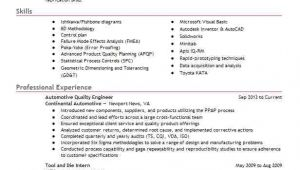 Quality Engineer Resume Automotive Automotive Quality Engineer Resume Sample Livecareer