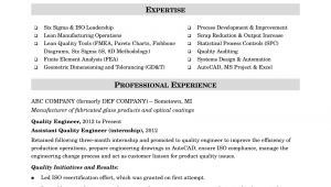 Quality Engineer Resume In Word format Sample Resume for A Midlevel Quality Engineer Monster Com