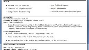 Quality Engineer Resume Keywords Quality Engineer Resume Template Resume Downloads