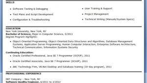 Quality Engineer Resume Keywords Quality Engineer Resume Template Resume Downloads