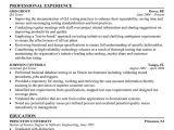 Quality Engineer Resume Keywords Sample Resume May 2016