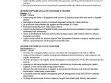 Quality Engineer Resume Senior Supplier Quality Engineer Resume Samples Velvet Jobs