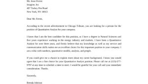 Quant Cover Letter Basic Quantitative Analyst Cover Letter Samples and Templates