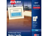 Quarter Fold Thank You Card Template Avery Inkjet Note Cards 4 14 X 5 12 Embossed Ivory Box Of 60