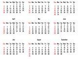 Quarterly Calendar 2014 Template 2014 Calendar Monthly Calendar Template
