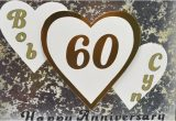 Queen 60th Wedding Anniversary Card Nj Stamping Queen Personalized 60th Anniversary Card with