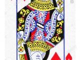 Queen Of Hearts Card Flower Queen Of Hearts Card Vector Stock Photos Queen Of Hearts