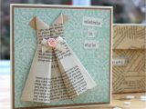 Quick and Easy Card Making Ideas origami Dress Card topper